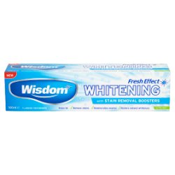 Wisdom Fresh Effect Whitening Fluoride Toothpaste Extra Mint 100ml