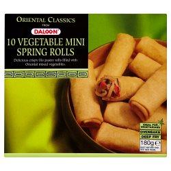 Daloon Oriental Classics 10 Vegetable Mini Spring Rolls 180g