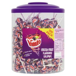 Vimto 200 Mixed Fruit Flavoured Lollipops 1.26kg
