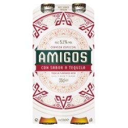 Amigos Tequila Flavoured Beer 4 x 33cl