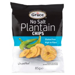 Grace No Salt Plantain Chips 85g