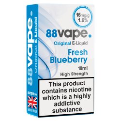 88Vape E-Liquid 16mg Fresh Blueberry 10ml