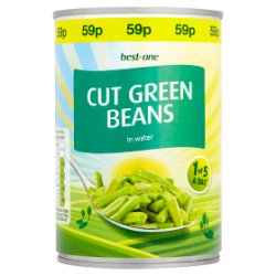 Best-One Cut Green Beans in Water 400g