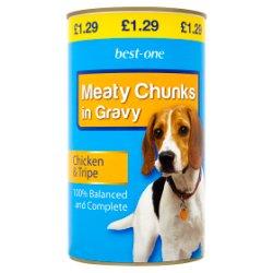 Best-One Meaty Chunks in Gravy Chicken & Tripe 1.2kg