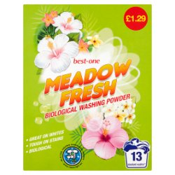 Best-One Meadow Fresh Biological Washing Powder 884g