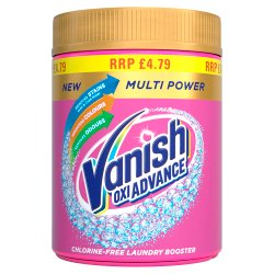 Vanish Oxi Advance Multi Power Chlorine-Free Laundry Booster Powder 470g