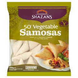Shazans 50 Vegetable Samosas 1.65kg