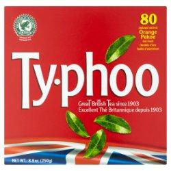 Typhoo Orange Pekoe Foil Fresh 80 Teabags 250g