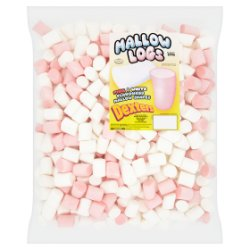 Dexters Mallow Logs Pink & White Flavoured Mallow Shapes 850g