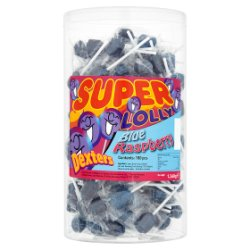 Dexters 180 Super Lolly Blue Raspberry 1.260g