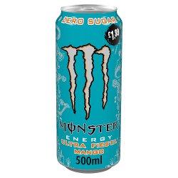 Monster Ultra Fiesta Mango Energy Drink 12 x 500ml PM £1.35