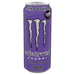Monster Ultra Violet Energy Drink 12 x 500ml PM £1.35