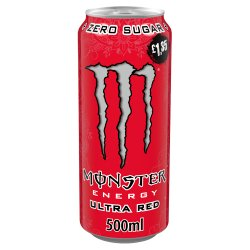 Monster Ultra Red Energy Drink 12 x 500ml PM £1.35