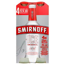 Smirnoff Ice Vodka Mixed Drink 4 x 275ml Premix Can PMP £4.99