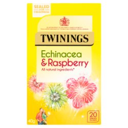 Twinings Echinacea & Raspberry 20 Single Tea Bags 40g