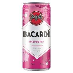 Bacardí Raspberry Spritz Flavoured Rum Mixed Drink 250ml