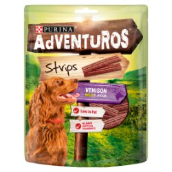 Adventuros Dog Treat Venison Flavour Strips 90g