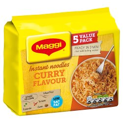 MAGGI 3 Minute Instant Curry Flavour Noodles 5 x 59g
