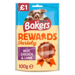 Bakers Dog Treats Mixed Variety Rewards 100g