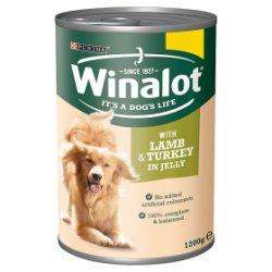 Winalot Adult Dog Food with Lamb & Turkey in Jelly 1200g