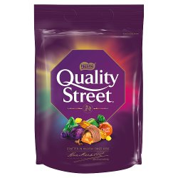 Quality Street Christmas Chocolate, Toffee and Cremes Sharing Bag 435g