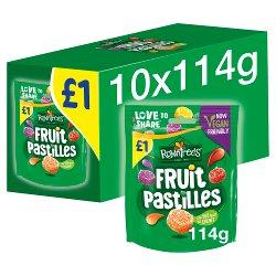 Rowntree's Fruit Pastilles Vegan Friendly Sweets Sharing Bag 114g PMP £1