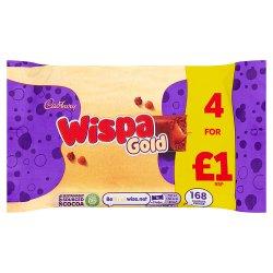 Cadbury Wispa Gold Chocolate Bar 4 Pack £1 134g