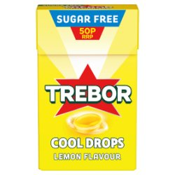 Trebor Cool Drops Lemon Flavour 50p 28g