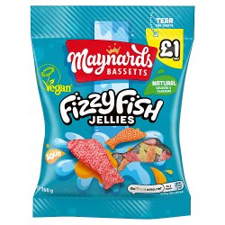 Maynards Bassetts Fizzy Fish £1 Sweets Bag 160g