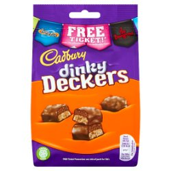 Cadbury Dinky Deckers Chocolate Bag 120g