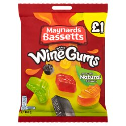 Maynards Bassetts Wine Gums £1 Sweets Bag 165g