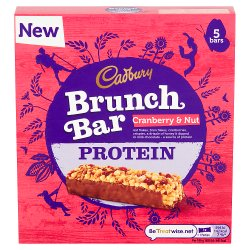 Cadbury Protein Brunch Bar Cranberry & Nut 5 Pack 160g