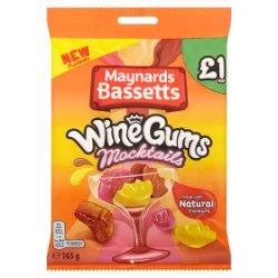 Maynards Bassetts Wine Gums £1 Mocktails Bag 165g