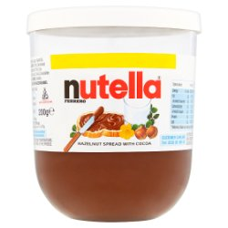 Nutella Hazelnut and Cocoa Spread PMP Jar 200g