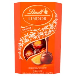 Lindt Lindor Orange Chocolate Truffles Box 200g
