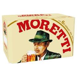 Birra Moretti Lager Beer 6 x 330ml