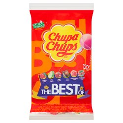 Chupa Chups The Best of 120 Assorted Flavour Lollipops 1440g