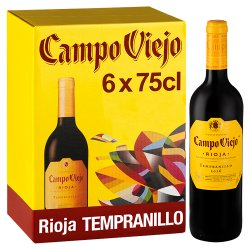 Campo Viejo Rioja Tempranillo Red Wine 6 x 75cl