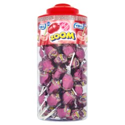 Vidal Zoom 50 Lollipop Filled with Bubble Gum Cola Flavour