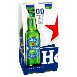 Heineken 0.0 Alcohol Free Beer 4 x 330ml Bottles