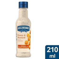 Hellmann's Honey and Mustard Salad Dressing 210ml