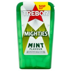 Trebor Mighties Sugar Free Mints 50p 12.6g