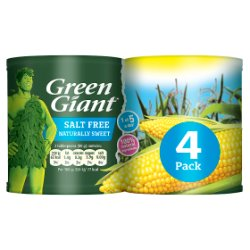 Green Giant Salt Free Sweetcorn 4 x 198g