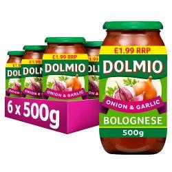 Dolmio Bolognese PMP £1.99 Onion & Garlic Pasta Sauce 500g