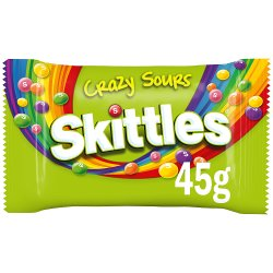 Skittles Crazy Sours Sweets Bag 45g