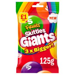 Skittles Giants Fruit Sweets Bag 125g