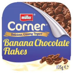 Müller® Corner® Yogurt Banana Chocolate Flakes 135g