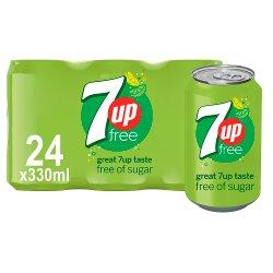 7UP Free 24 x 330ml