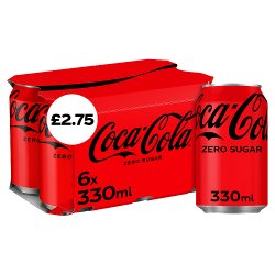 Coca-Cola Zero Sugar 6 x 330ml PM £2.75