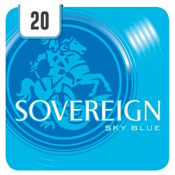 Sovereign Sky Blue 20 Cigarettes Track & Trace Compliant